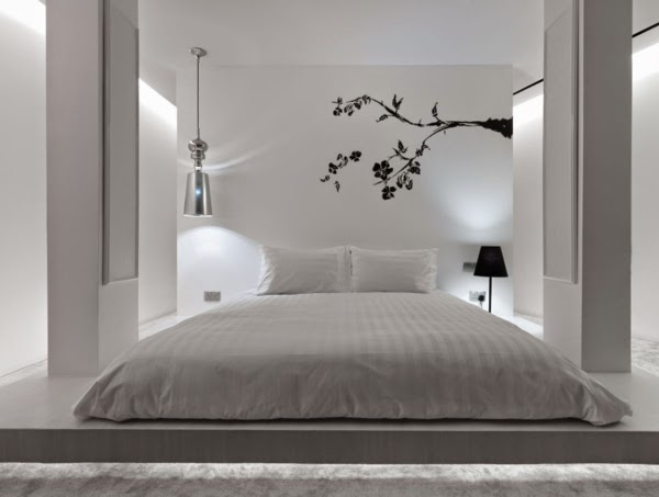 Schlafzimmer Deko Ideen: Feng Shui Bett Schlafzimmer Farben weiß