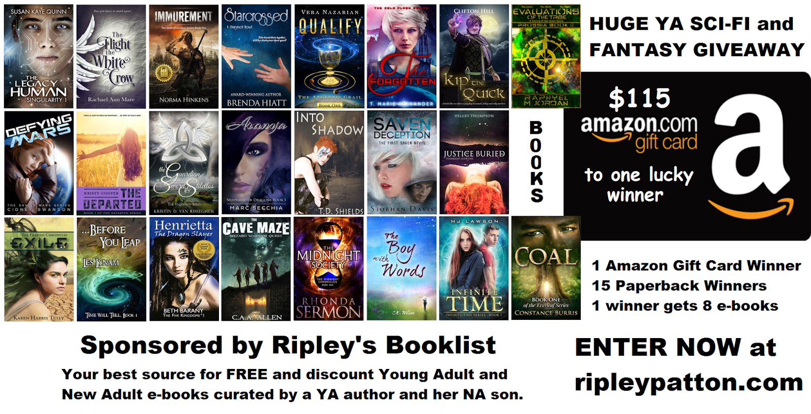 Today I Have An Awesome Giveaway To Share With You Which Includes 15  Paperbacks, A Huge $115 Gift Card Or 8 Ebooks! Here's A Rundown Of These  Tasty Prizes: