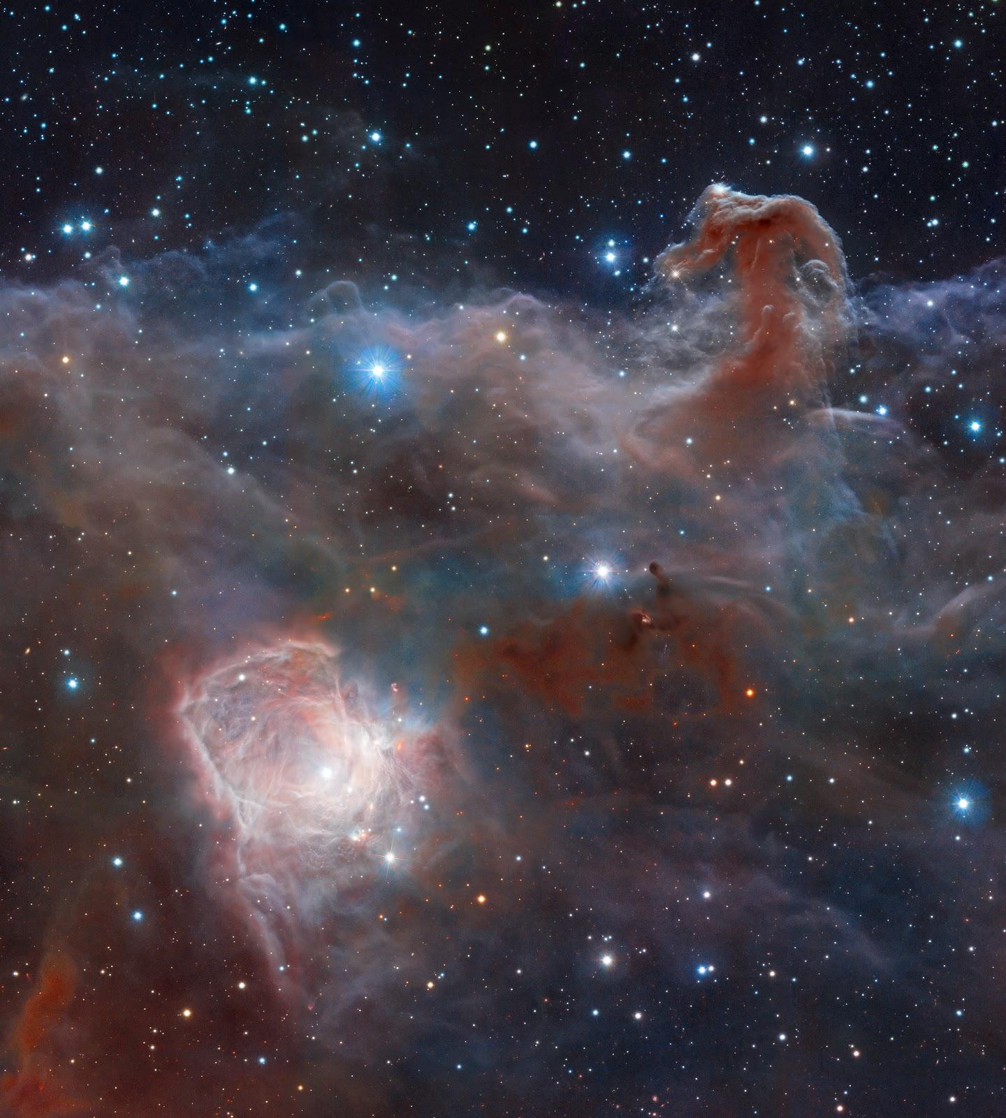 Thực hiện bởi Robert Gendler. Dữ liệu hình ảnh : ESO, VISTA, HLA, Hubble Heritage Team (STScI/AURA).