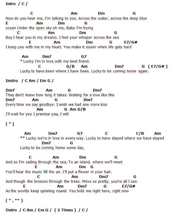 Guitar lucky guitar chords jason mraz : MAKE IT MINE CHORD JASON MRAZ - Wroc?awski Informator Internetowy ...