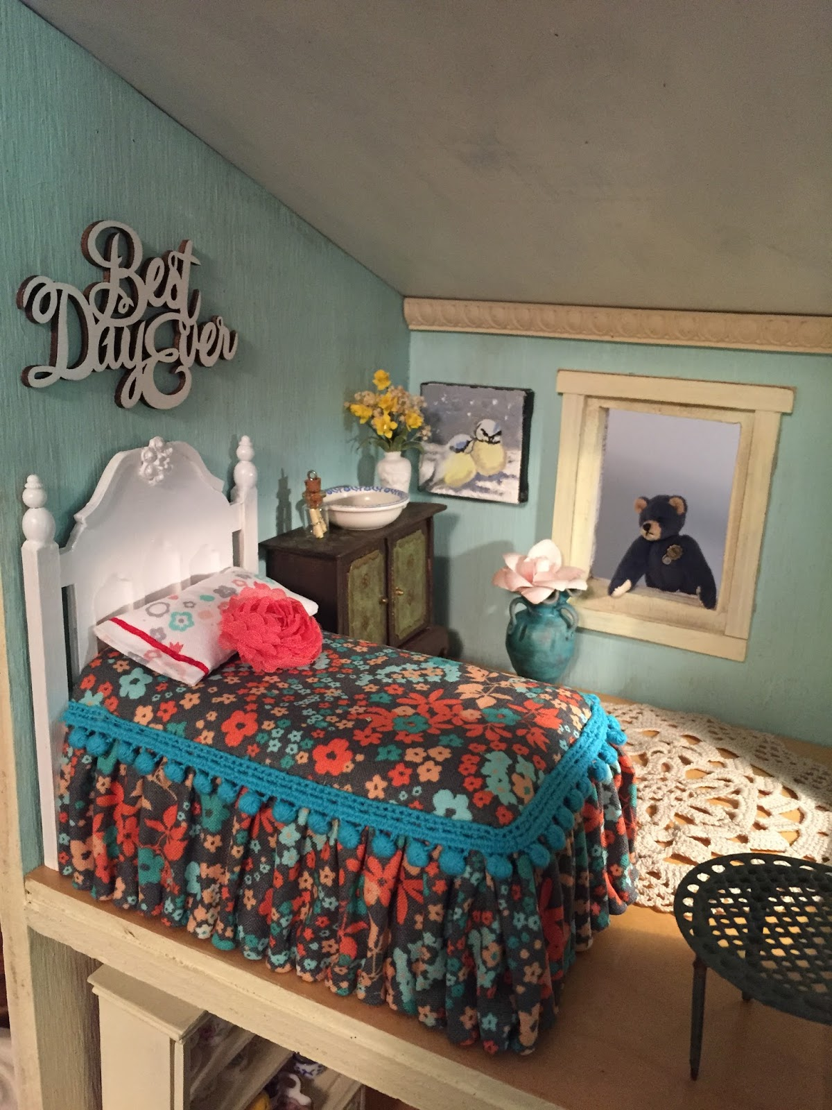 Dollhouse Curtain On A Curtain Rod Nature S Soul Miniatures