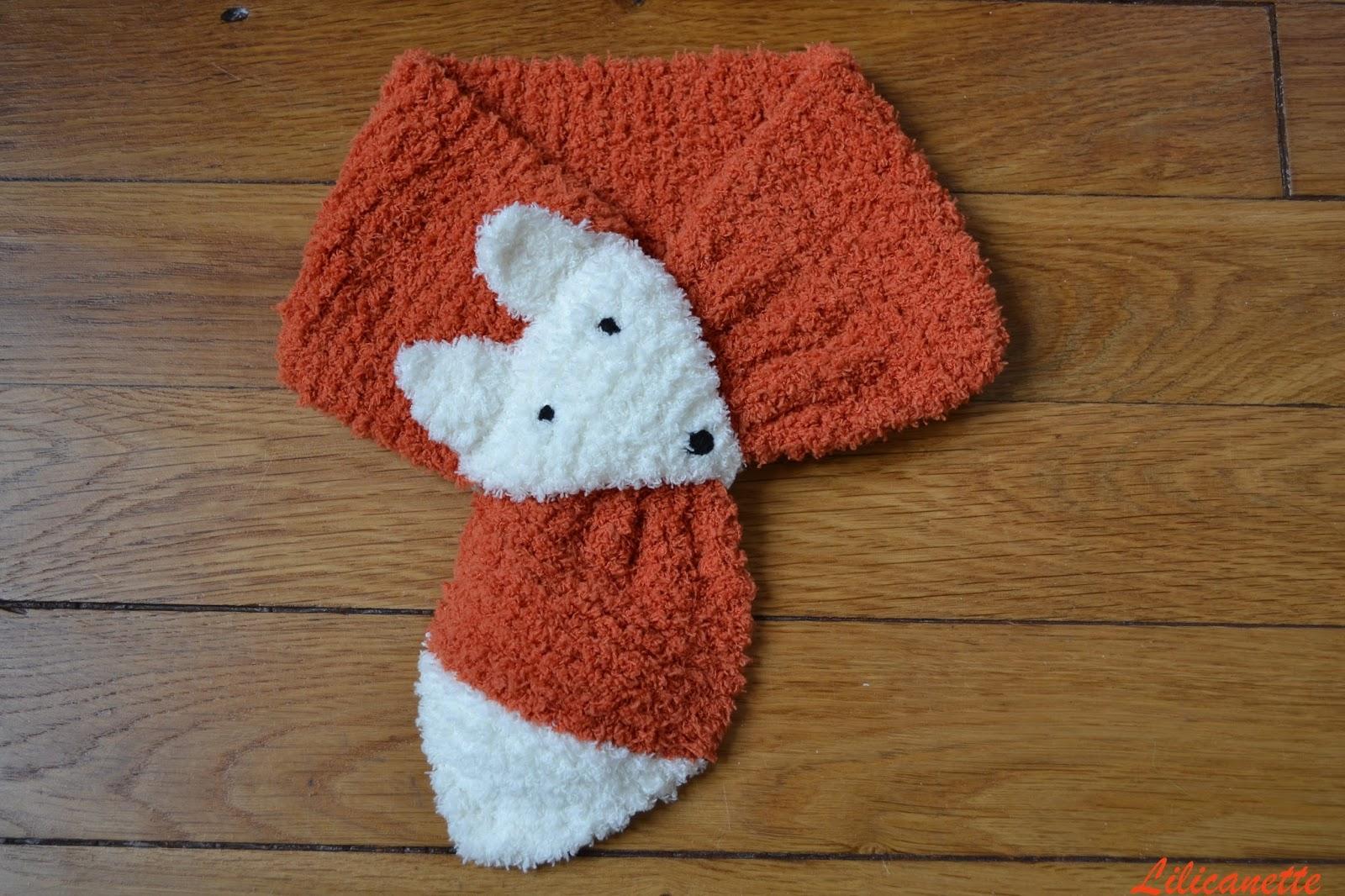 grande remise brillance des couleurs artisanat de qualité Lilicanette: Tricot - Echarpe renard pour bébé (+ tuto)