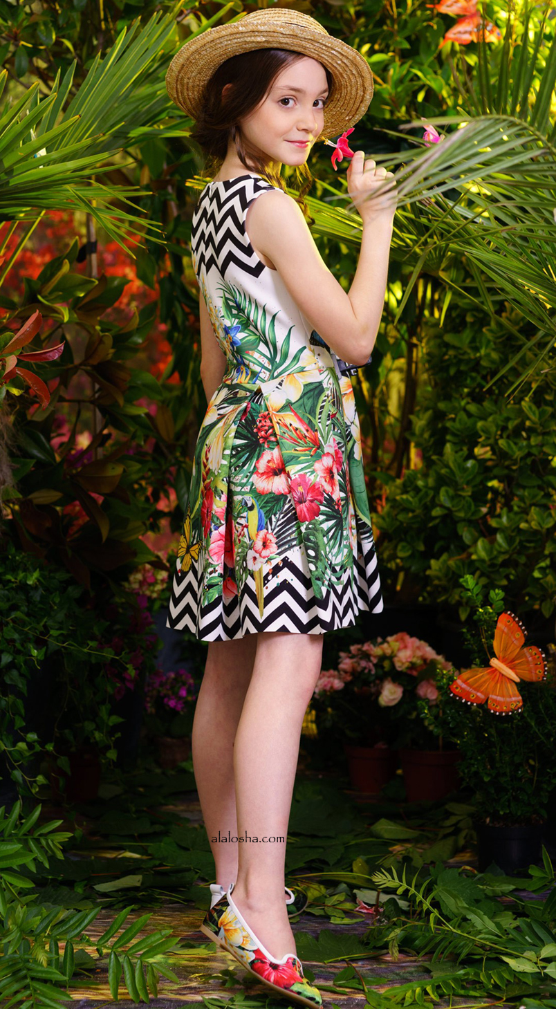 Tropical Garden Neoprene Dress