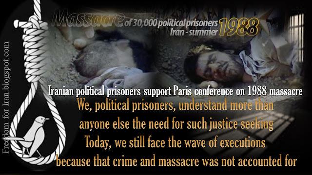 Iranian political prisoners support Paris conference on 1988 massacre