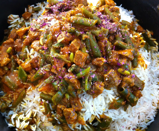 loobia {green bean} polow {rice}: the reliable crowd pleaser! | Cooking Minette