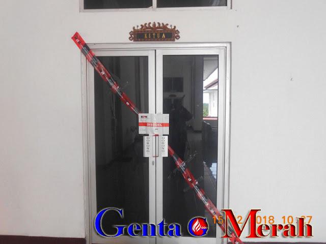 Ruang Pimpinan Disegel KPK, Gedung DPRD Lamteng Lengang