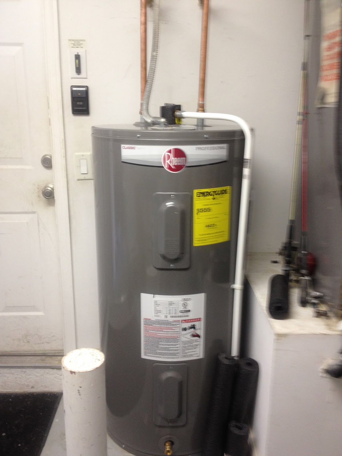 rheem electric water heater installation instructions