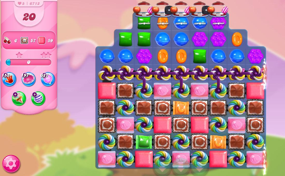Candy Crush Saga level 6712