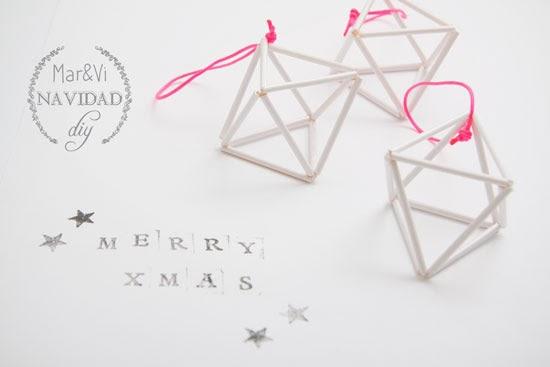 Adornos nórdicos de navidad