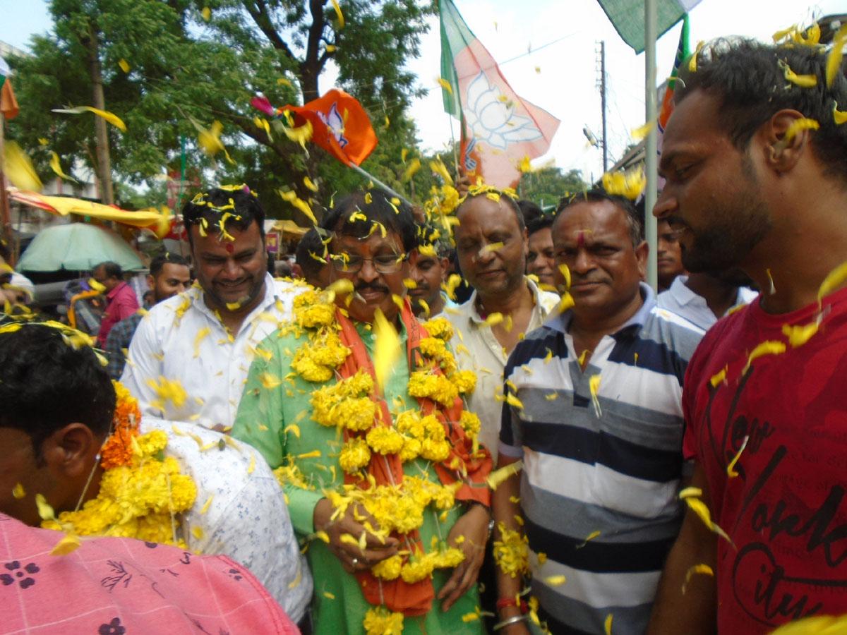 गांधी संकल्प यात्रा में नगर में दिया गया स्वच्छता एवं समरसता का सन्देश