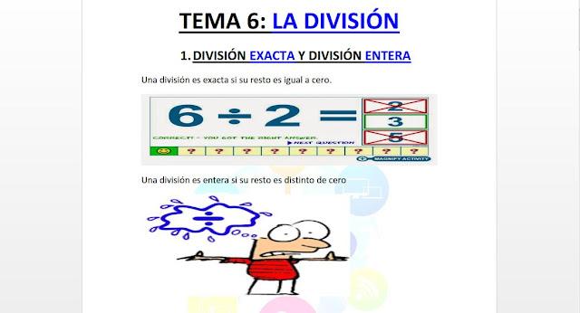 divisiones,primaria,material,didactico
