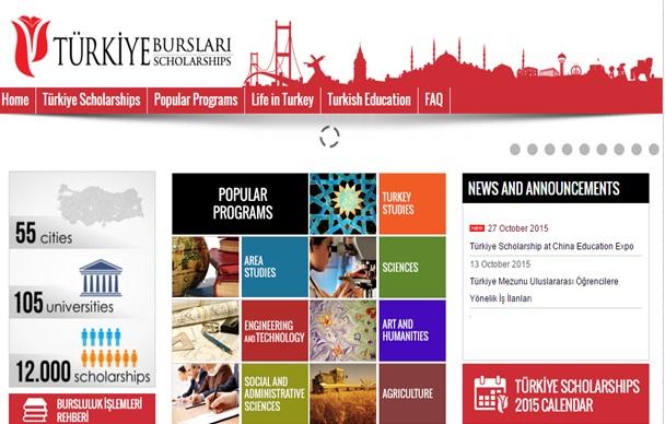 منح تركية 2016