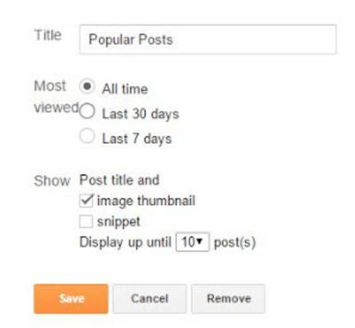 Setting Popular Post