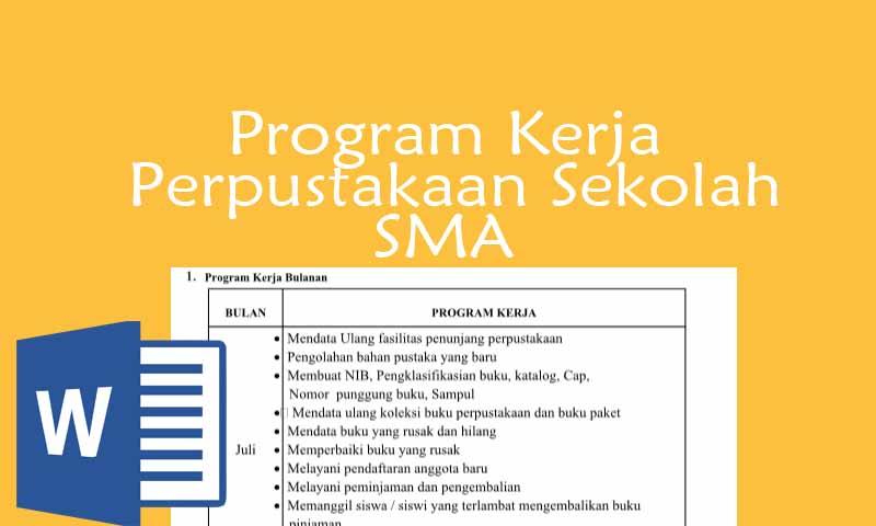 Program Kerja Perpustakaan Sekolah SMA