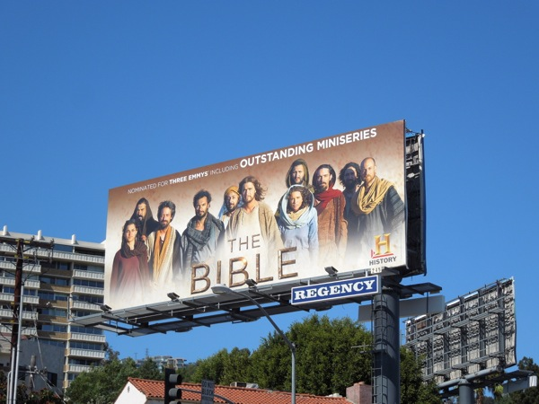 Bible Emmy 2013 nomination billboard