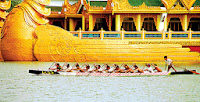 Regatta festival on Kandawgyi Lake
