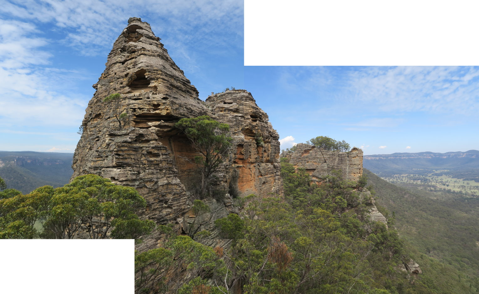 Mountains: Donkey Mountain (west side), Gardens of Stone NP, NSW ...