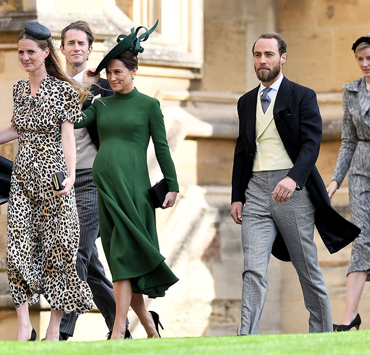 Heavily pregnant Pippa Middleton attends Princess Eugenie's wedding