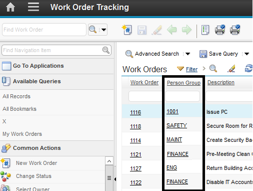 Display Assigned GROUPNAME with WONUM in Workorder Tracking | IBM