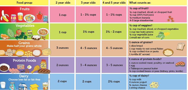 √ My Plate Servings Chart | MyPlate Guide to Portion Sizes