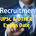 Upcoming UPSC And Other All Indian Job Exams Dates