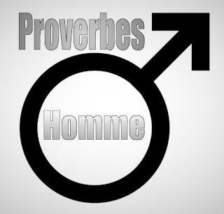 Sigle de l'homme avec de beaux proverbes