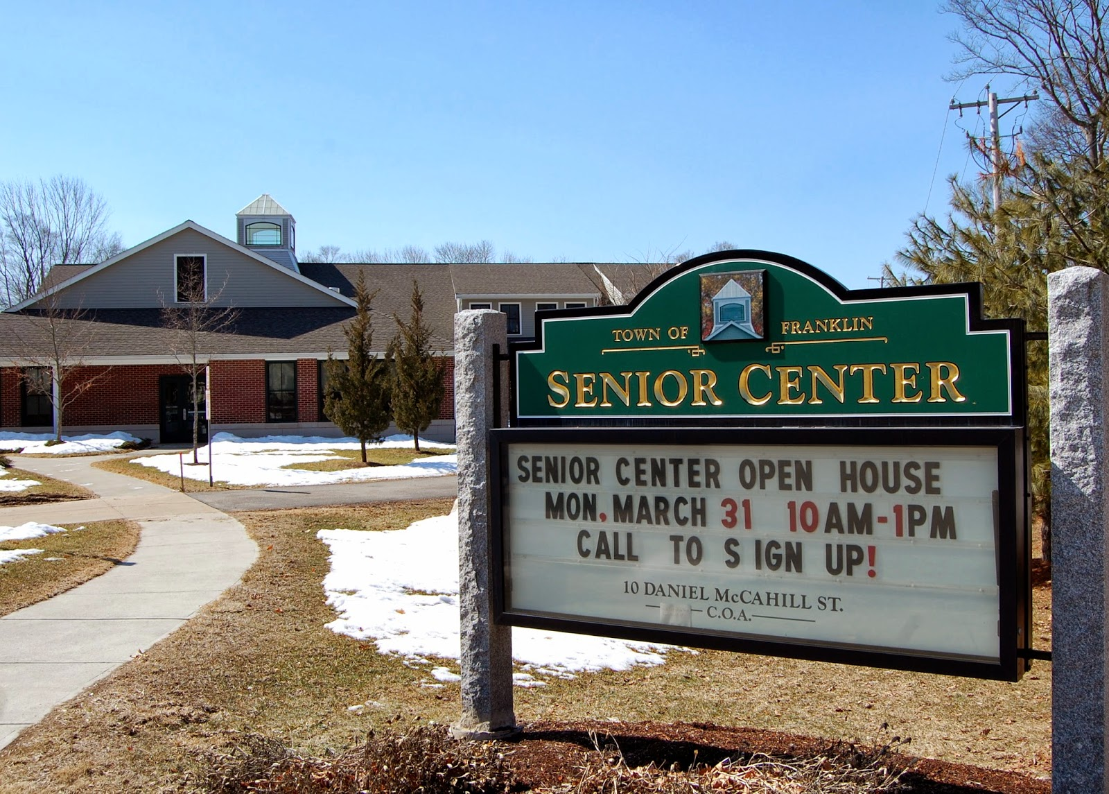 Senior Center - Open House Mar 31
