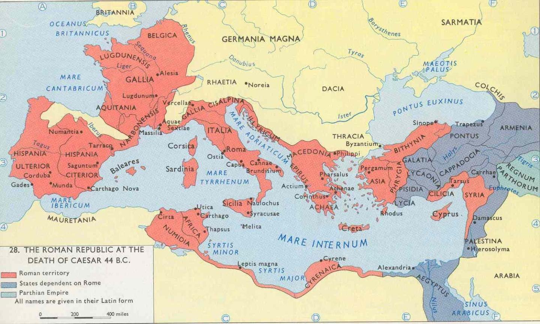 Latin I New Bern High School Fall Map Roman Empire