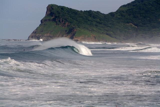 surfing panga drops beach nicaragua
