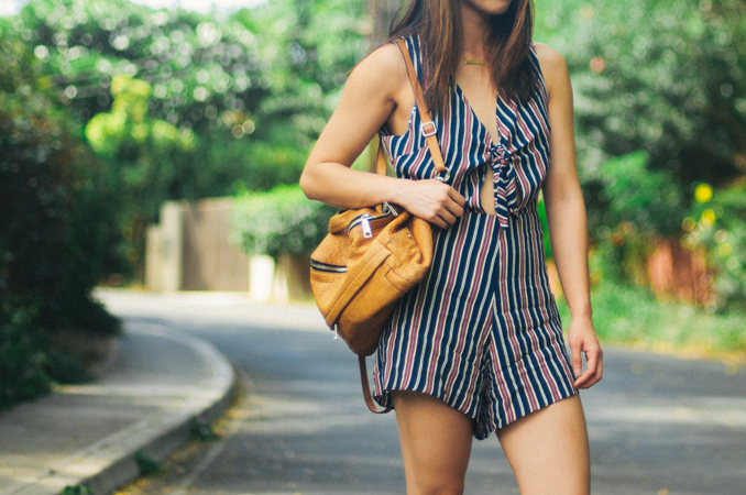 fashion blogger wearing privacy please rivington romper and quay highly strung sunglasses in maui