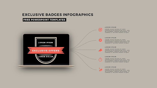Infographic Badges Free PowerPoint Template for Special Offers Slide 1