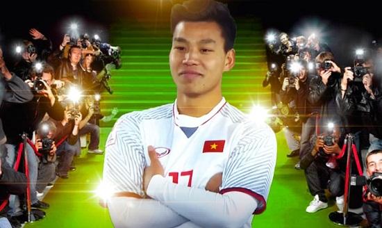 Cầu thủ Vũ Văn Thanh là tài năng trẻ của đội tuyển bóng đá Việt Nam