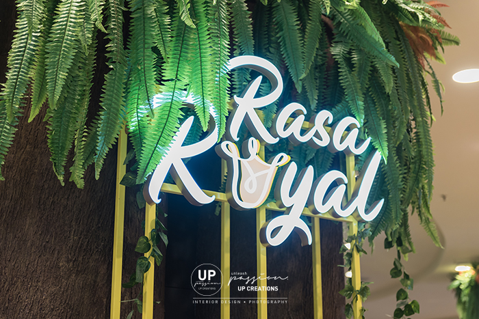 Sunway pyramid rasa royal kiosk backlit signage