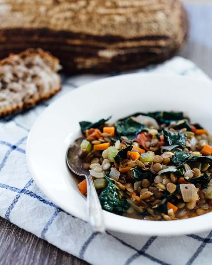 Vegan Stew with Sprouted Lentils