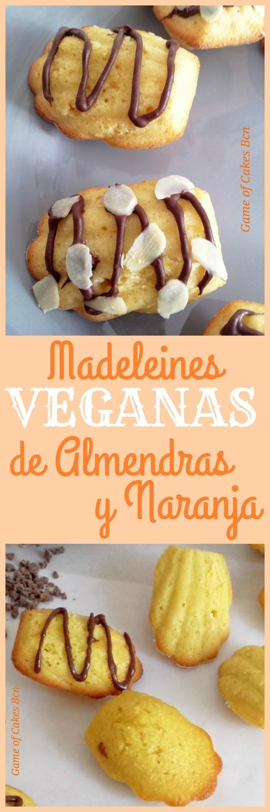 Madeleines veganas de almendra y naranja