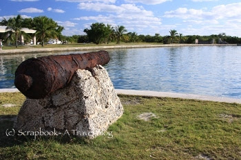 Rusted canon at Boca Chita Key Biscayne National Park