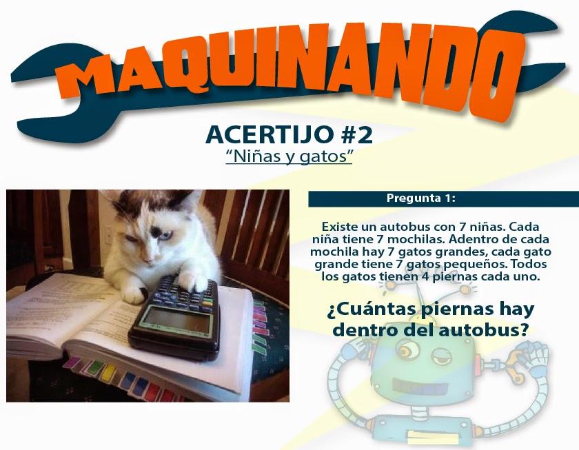 Acertijo de matemáticas - Niñas y gatos