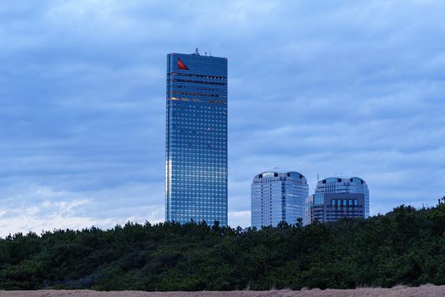 海浜幕張公園・幕張の浜からの東京ベイ幕張