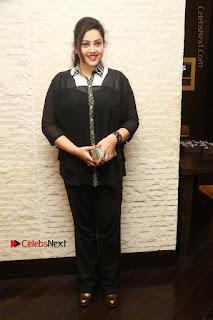 Tamil Actress Meena Latest Stills in Black Dress at TSR TV9 Awards Press Meet  0161.JPG