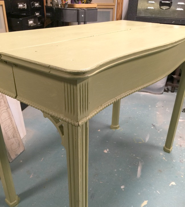 Using an Old Table to Create a Potting Bench