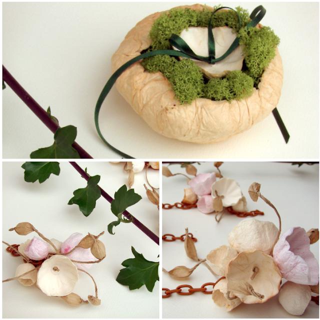 matrimonio green a tema botanico organico: accessori
