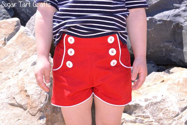 kid's sailor shorts