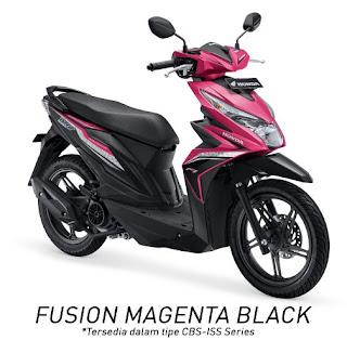 Honda BeAT eSP CBS ISS (Fusion Magenta Black)