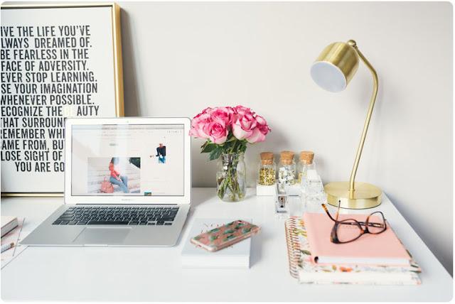 bureau de la blogueuse parfaite