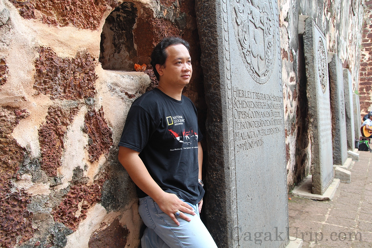 Foto Model wannabe di puncak A'Famosa, Melaka, Malaysia