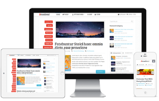 Sensational Blogger Template: Responsive