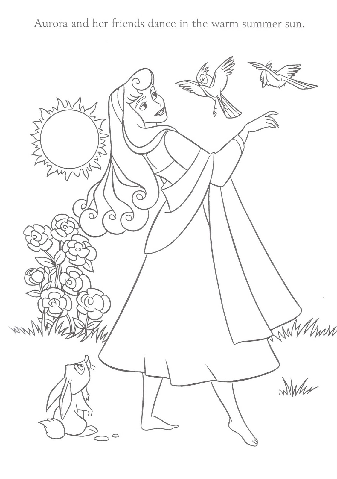 This is a photo of Lively Princess Aurora Coloring Pages