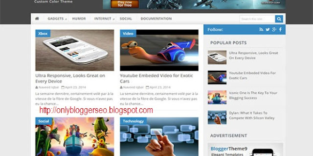 Magento Blogger Responsive Seo Friendly Template