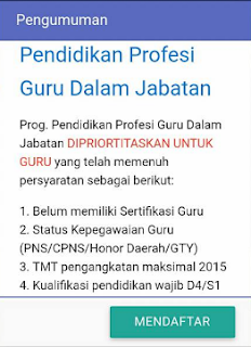 PPG jabatan guru PPG 2018 SIM PKB