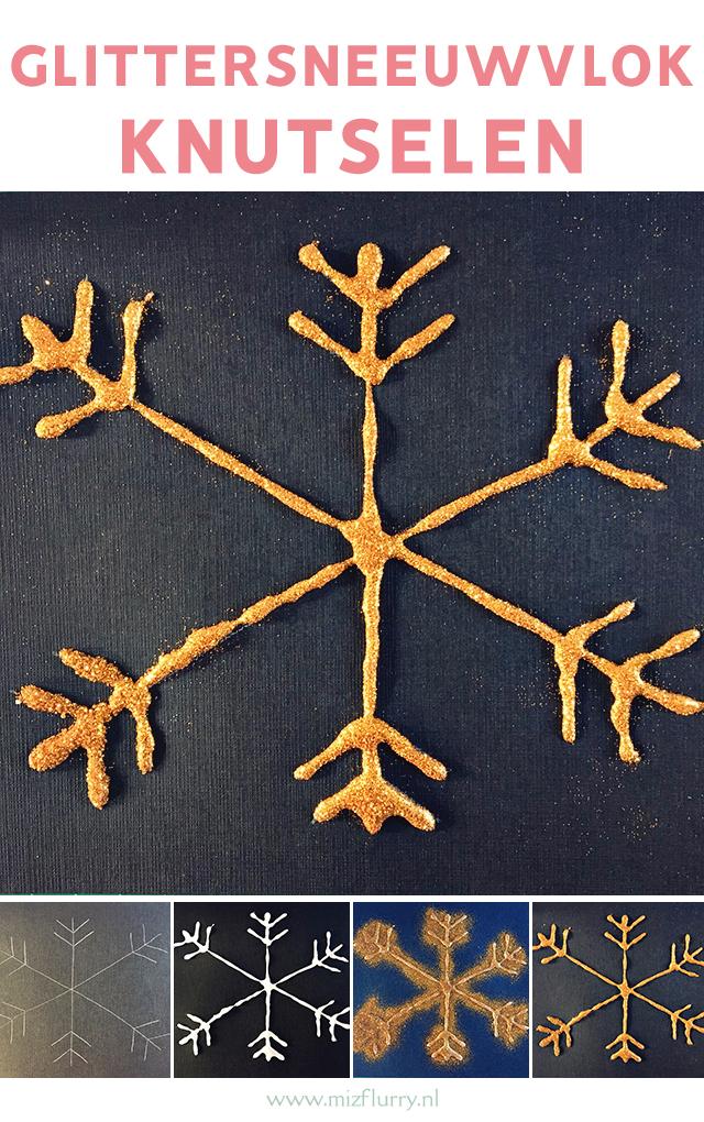 glitter sneeuwvlokken knutselen pinterest